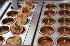 Mini pancakes royalty free stock photography