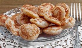 Mini pancakes Stock Image