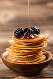 Mini pancakes Stock Images