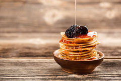 Mini pancakes Royalty Free Stock Photography