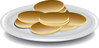 Mini pancakes Royalty Free Stock Photo