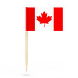 Mini Paper Canada Pointer Flag framförande 3d Stock Illustrationer