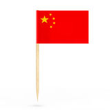 Mini Paper China Pointer Flag het 3d teruggeven Stock Afbeelding