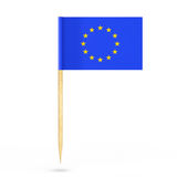 Mini Paper European Union Pointer-Flagge Wiedergabe 3d Lizenzfreies Stockfoto
