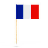 Mini Paper France Pointer Flag. 3d Rendering. Mini Paper France Pointer Flag on a white background. 3d Rendering Royalty Free Stock Photos