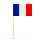 Mini Paper France Pointer Flag rappresentazione 3d Fotografie Stock Libere da Diritti