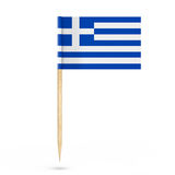 Mini Paper Greece Pointer Flag. 3d Rendering Royalty Free Stock Images