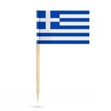Mini Paper Greece Pointer Flag rappresentazione 3d Immagini Stock Libere da Diritti