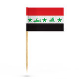 Mini Paper Iraq Pointer Flag representación 3d Fotografía de archivo libre de regalías