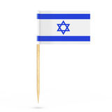 Mini Paper Israel Pointer Flag. 3d Rendering Royalty Free Stock Photo