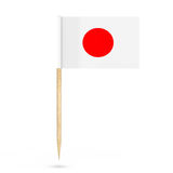 Mini Paper Japan Pointer Flag rappresentazione 3d illustrazione di stock