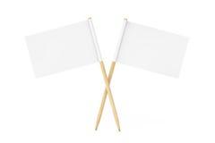 Mini Paper Pointer Flags in bianco rappresentazione 3d Fotografie Stock Libere da Diritti
