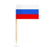 Mini Paper Russia Pointer Flag Wiedergabe 3d Lizenzfreie Stockfotos