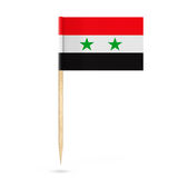 Mini Paper Syria Pointer Flag framförande 3d Royaltyfri Foto
