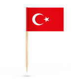 Mini Paper Turkish Pointer Flag framförande 3d stock illustrationer