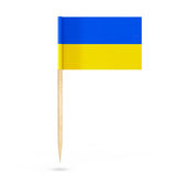Mini Paper Ukraine Pointer Flag rappresentazione 3d Fotografia Stock