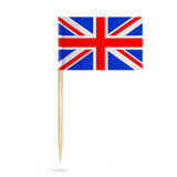 Mini Paper United Kingdom Pointer Flag. 3d Rendering Royalty Free Stock Photos
