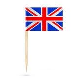 Mini Paper United Kingdom Pointer flagga framförande 3d Royaltyfria Foton