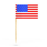 Mini Paper USA Pointer Flag. 3d Rendering Royalty Free Stock Photography