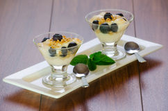 Mini parfaits Photos stock