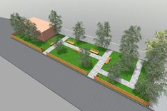 Mini Park 3D Imagem de Stock Royalty Free