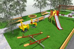 Mini Park 3D Photographie stock libre de droits