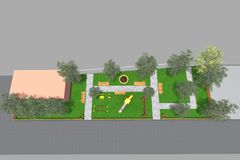 Mini Park 3D royalty illustrazione gratis
