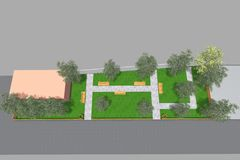 Mini Park 3D Royaltyfria Bilder