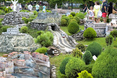 Mini Park en Rímini, Italia Imagen de archivo libre de regalías