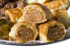 Mini Party Sausage Rolls Royalty Free Stock Photos