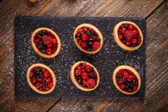 Mini party tartlets Stock Images
