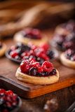 Mini party tartlets Stock Photography