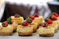mini pastel de queso Foto de archivo