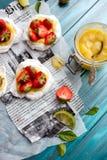 Strawberry-lime pavlova Royalty Free Stock Photography