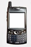 Mini-pc Cell Phone. A pocket pc cellphone with QWERTY keyboard and blank screen for your text or logo etc stock photography