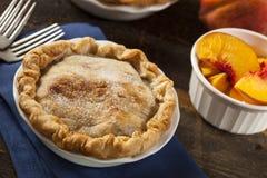 Mini Peach Pie Dessert Royaltyfri Bild