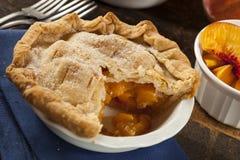Mini Peach Pie Dessert Arkivbild