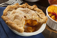 Mini Peach Pie Dessert Stock Photography