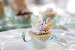 Mini Peanut Tarts On Dish Close-up Stock Photography