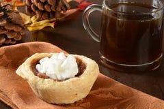 Mini pecan pie and coffee Stock Photography