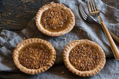 Mini Pecan Pies from the bakery Royalty Free Stock Photos