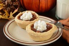 Mini pecan pies Stock Photos