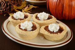 Mini pecan pies Stock Image