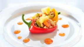 Mini peperoni farciti Immagini Stock