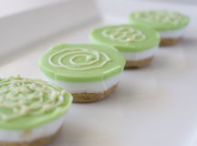 Mini peppermint slice Royalty Free Stock Images