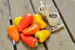 Mini peppers Stock Photos