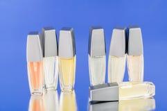 Mini perfume bottles Royalty Free Stock Images