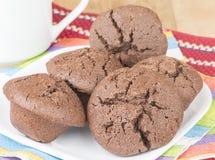 Mini petits pains de chocolat Image stock