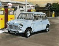 Mini at a Petrol Station / Garage Stock Photos