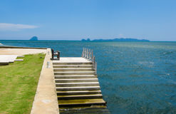 Mini Pier. In a Beach Resort at Pakmeng Beach, Sikao District, Trang, Thailand Royalty Free Stock Images